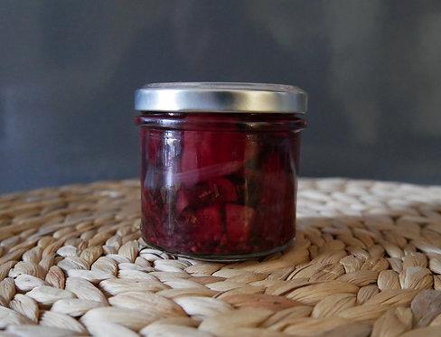 PICKLES de betterave, vinaigre de vin rouge framboise, menthe - 120g