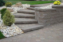 stairs with blocks and paving