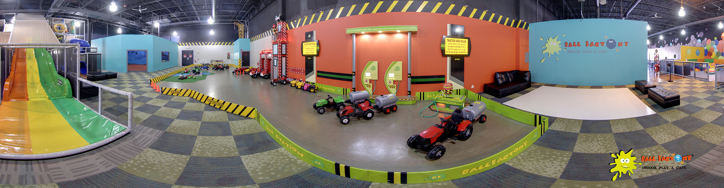 PEDAL TRACTOR AREA
