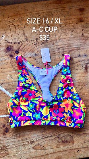 Samba swim top (size 16)