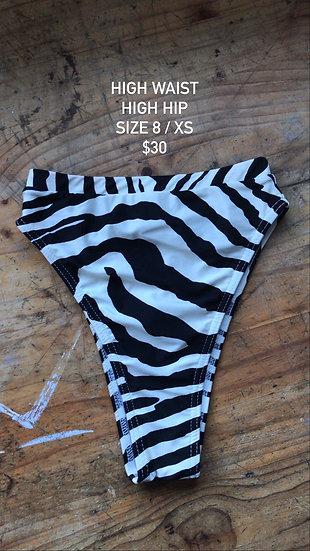 Zebra high hip brief (size 8)
