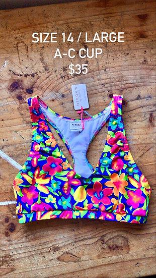 Samba swim top (size 14)