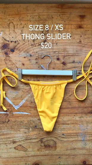 Sunshine slider style thong (size 8)
