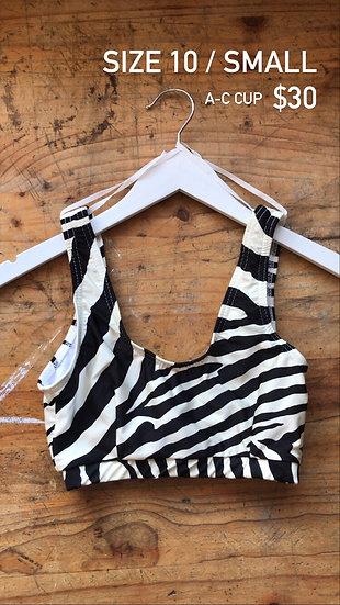Zebra swim top (size 10)