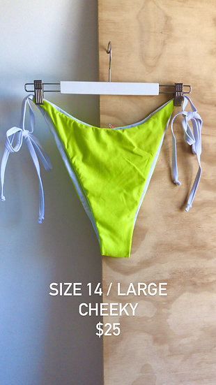 Electric Lime Brief Cheeky (size 14)