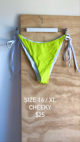 Electric Lime Brief Cheeky (size 16)