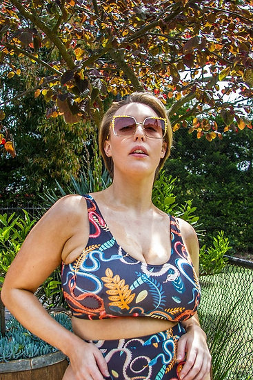 Snake Bikini Crop Top