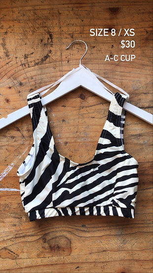 Zebra swim top (size 8)