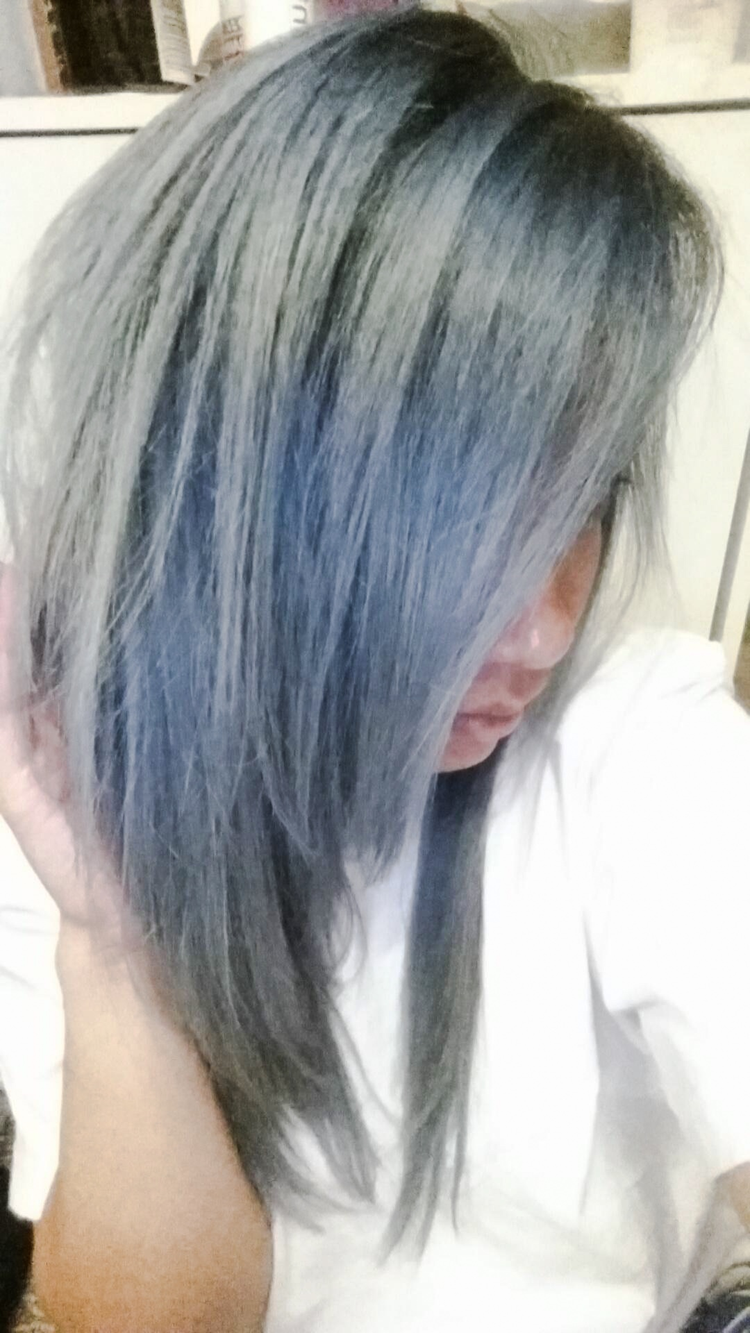Silver hair!! Done by Sonny