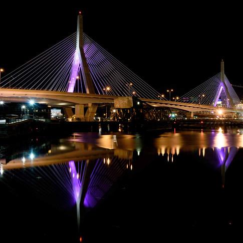 Reflections of the Zakim Bridge