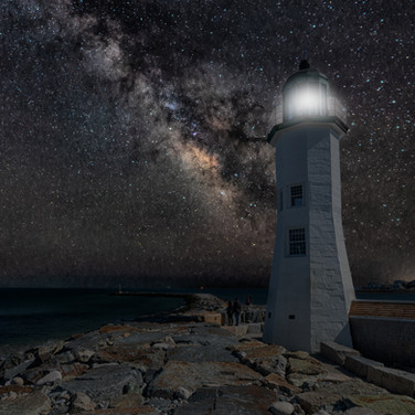 Scituate Lighthouse and the Milky Way