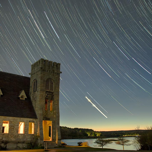 Star Trails at the Stone Church