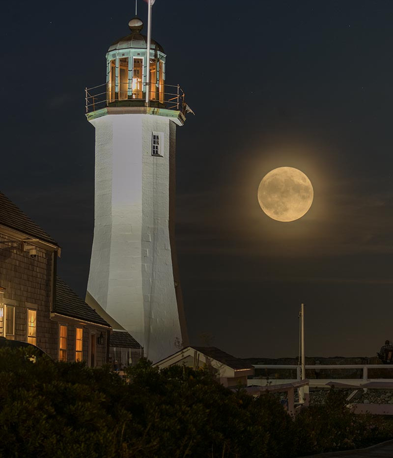 Harvest Moon over Scituate