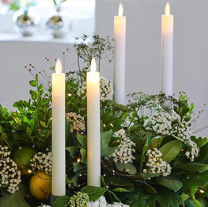 Set de 2 bougies flambeau à led.