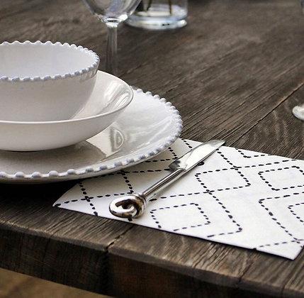 """20 Serviettes de table en intissé """"losanges"""""""
