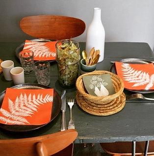 20 Serviettes de table en intissé terracotta