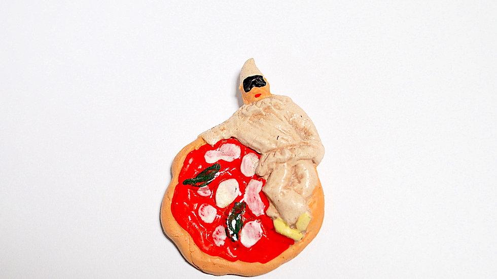 Terracotta Pulcinella Pizza Magnet.