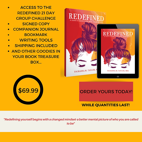 Redefined: 21 Days to Reset Your Mind, Body & Soul Book Treasure Box