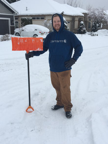 Greg on Ashdown helping out the neighbors by clearing driveways and sidewalks...