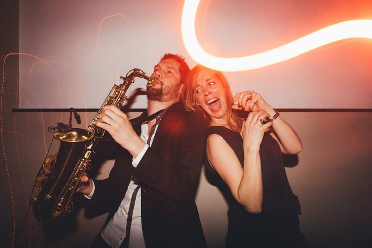 live saxophone
