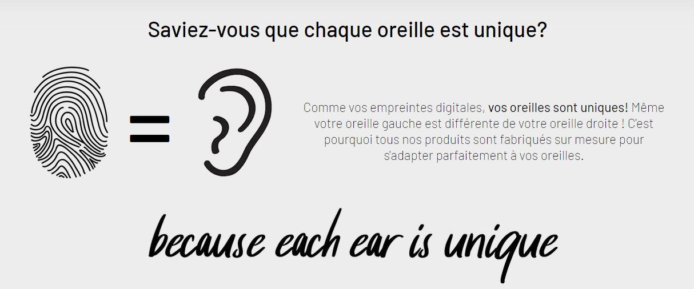 chaque oreille est unique comme une empreinte digitale