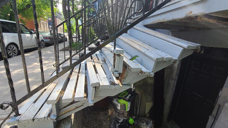 Front porch stairs replacement