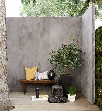 Cement wall set
