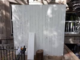 White washed barnwood wall