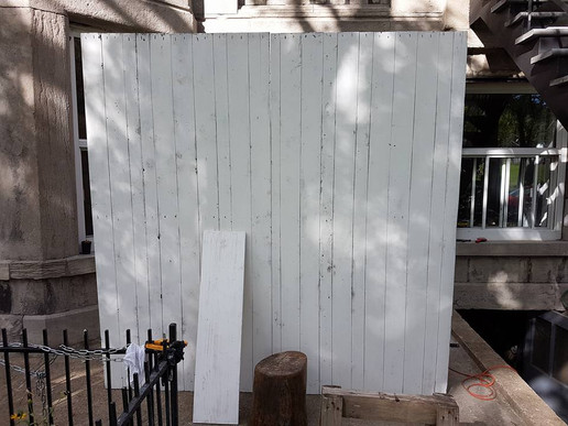 White washed barnwood wall