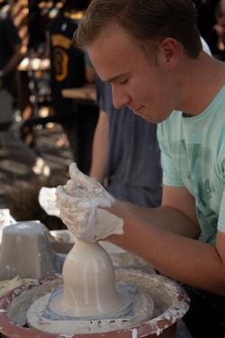 VHS Ceramics Student