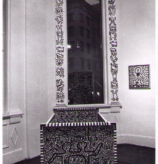 Keith Haring Window Installation, 1981