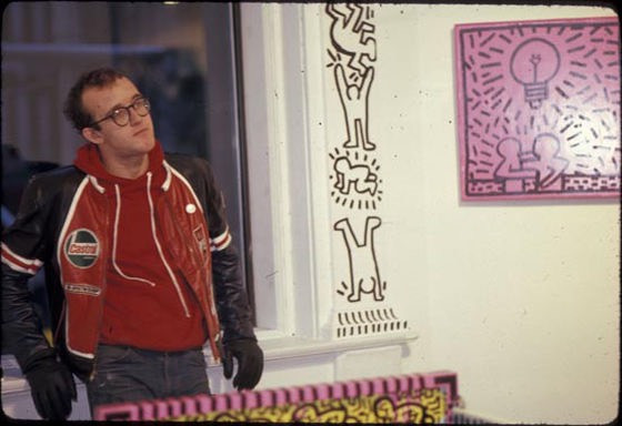 Keith Haring at Hal Bromm Gallery installation