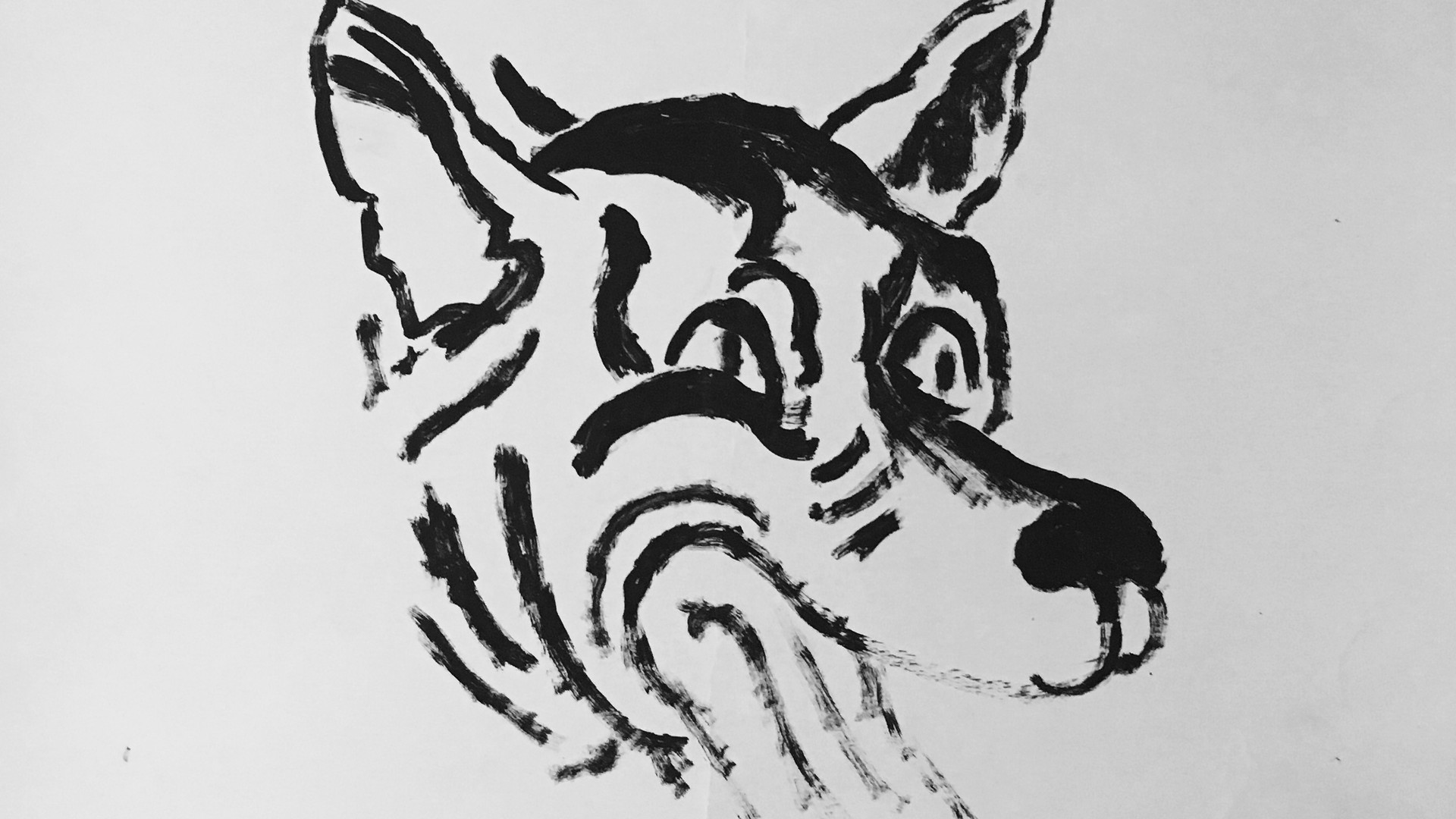 """David Wojnarowicz """"Untitled (Wolf)"""" 1983"""