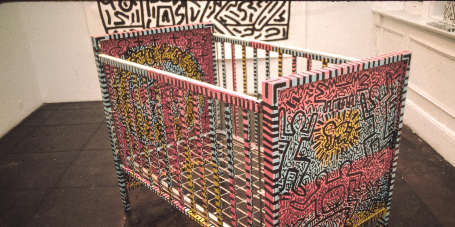 """Keith Haring """"Crib"""" 1981"""