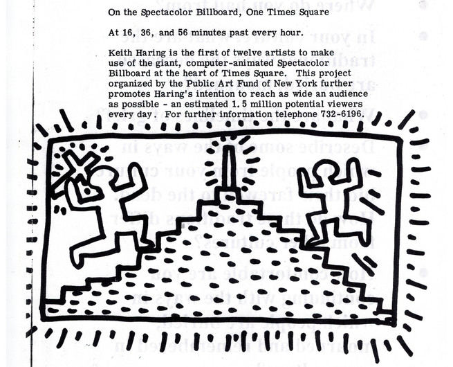 Haring drawing on Hal Bromm News