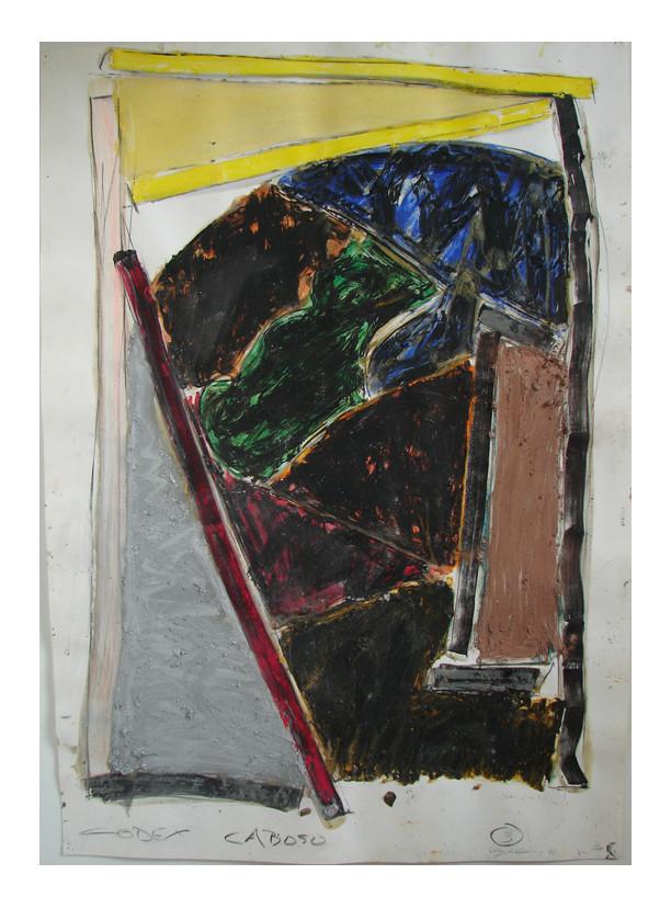 Codex Caboso: 3, 1982 39 1/4 x 27 1/2 oil stick on paper