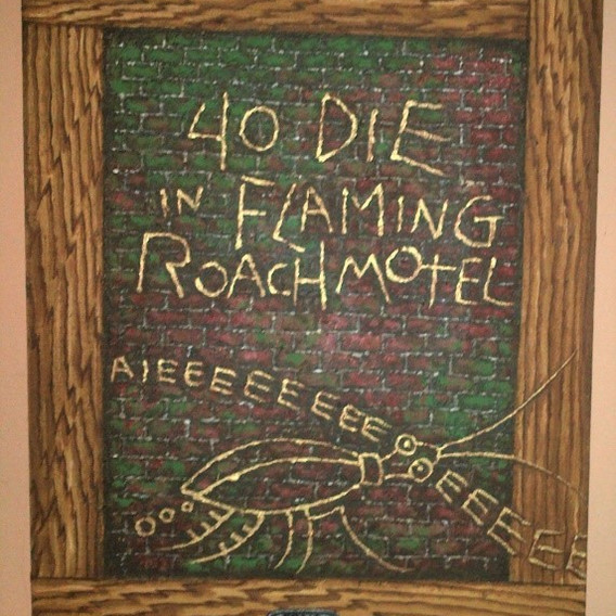"Martin Wong ""40 Die Flaming Roach Motel"" 1983"