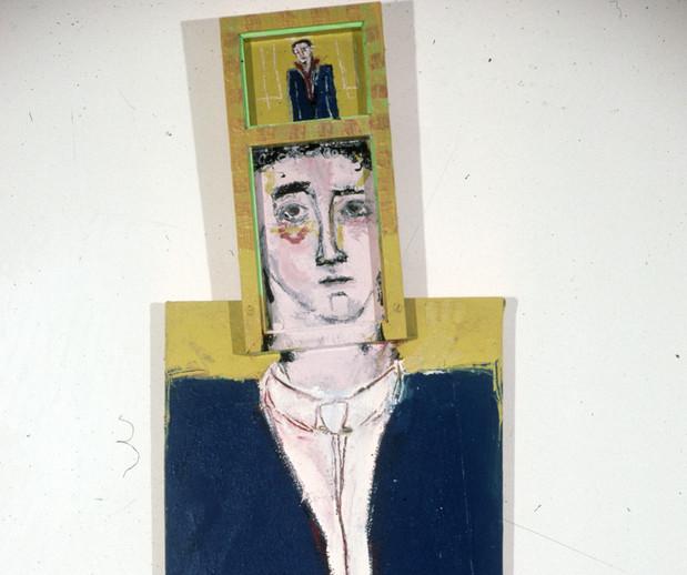 "Judy Glantzman ""Portrait of Hal Bromm"" 1983"