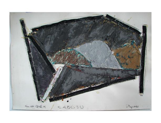 Codex/Caboso,1982  27 ½ x 39 3/8  pastel on paper