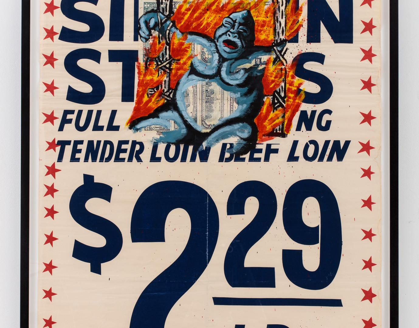 """David Wojnarowicz """"USDA Choice Beef"""" 1984"""