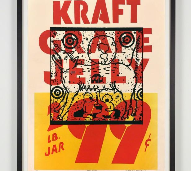 """David Wojnarowicz """"True Myth (Kraft Grape Jelly)"""" 1983"""