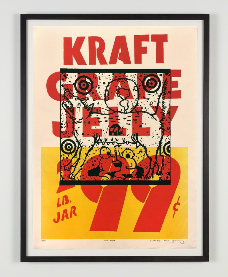 "David Wojnarowicz ""True Myth (Kraft Grape Jelly)"" 1983"