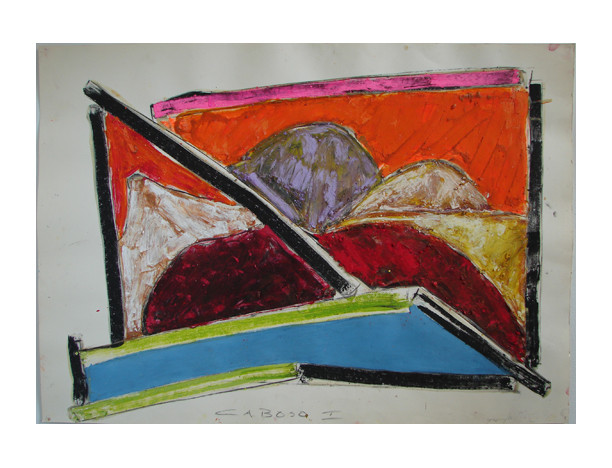 Caboso I, 1982 28 1/2 x 39 3/8 oil stick on paper