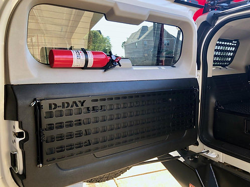 Hummer H3 fold down molle tailgate panel