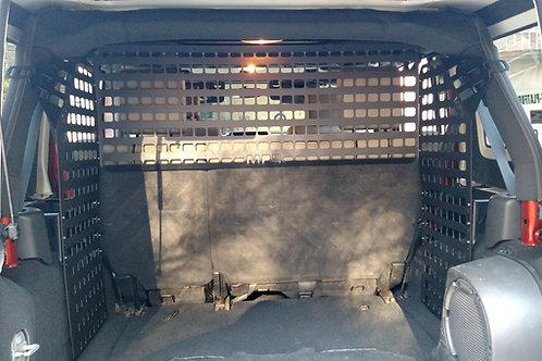 2007-18 JKU Jeep wrangler molle/ pet barrier