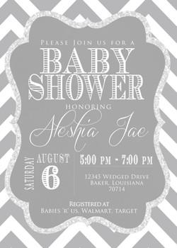 Grey Chevron Baby Shower