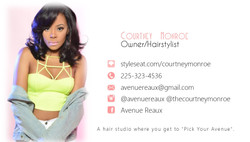 Avenue Reaux Biz Card (Back)