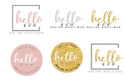 Hello Ego (Blush and Gold)