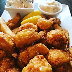 Golden Fried Scallops