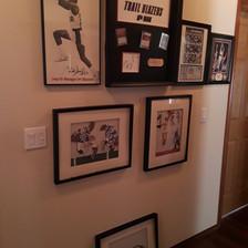 sports memorabilia blazers Clyde Drexler autographed